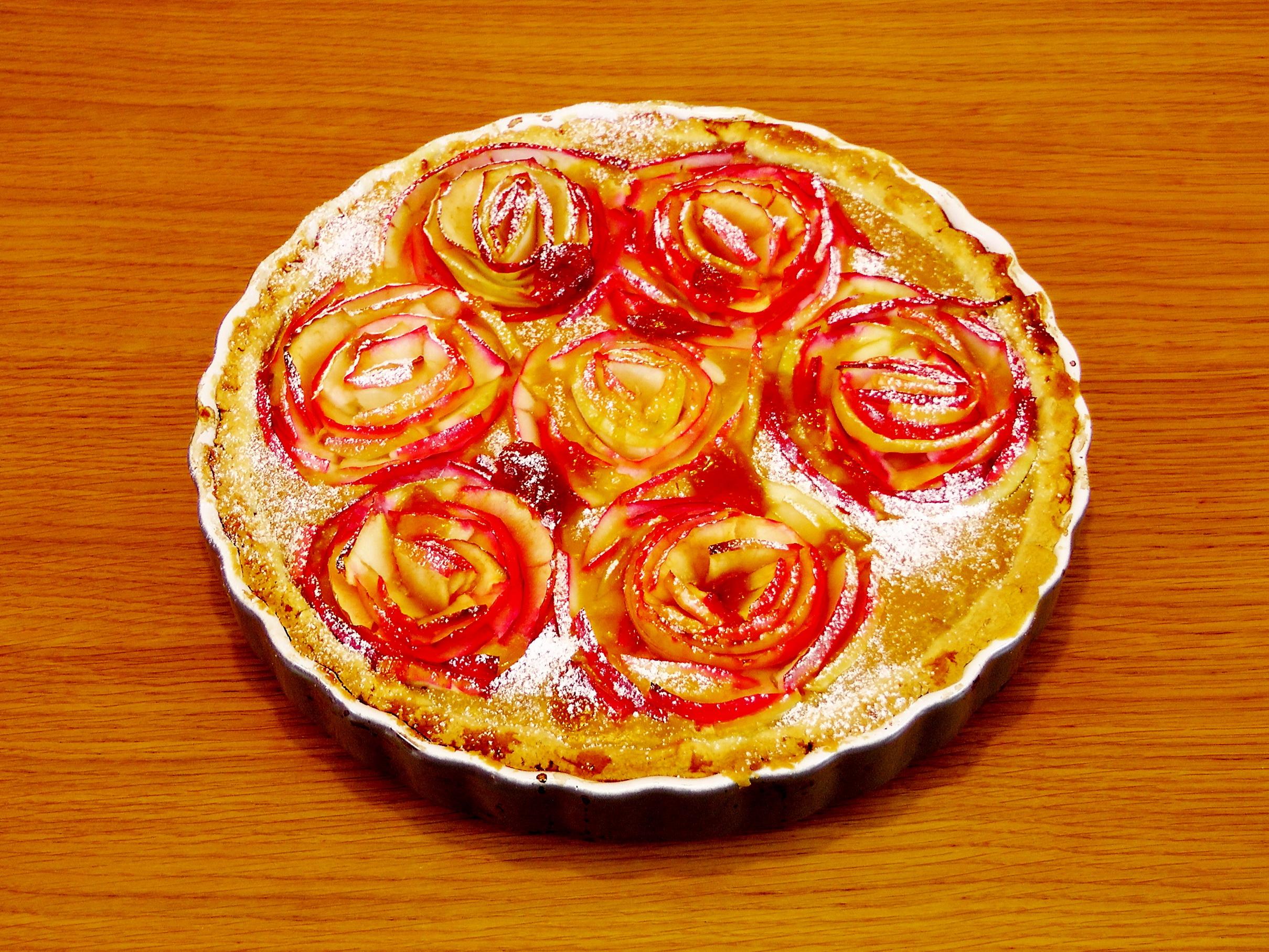 Торт с яблоками романтический